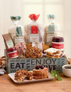 A tasty medley of @wolfermans top-selling muffins and pastries delivered in this charming gourmet gift tray. Great for daily breakfast or a special brunch.