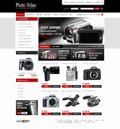 ZenCart Template for Video Store Website Photo Store, Business Website, Hermes, Web Design, Templates, Photo And Video, Models, Template, Stencils
