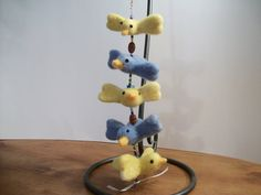 Felt Bird Mobile Nursery Mobile Needle Felted by FeltWithAHeart