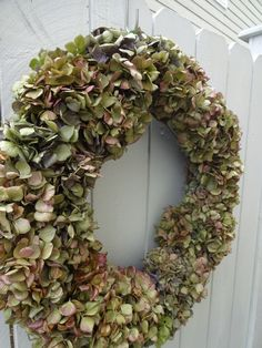 Hydrangea Wreath Dried Hydrangea Wreath Mothers Day Wreath Mothers Day Home Decor Shabby Chic Dried Wreath Natural Wreath by donnahubbard on Etsy