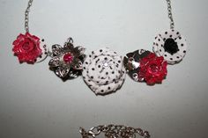 Close to my Heart Base and Bling Necklace (Z1874) with For Always Textiles (Z1820) and Pink Jewels (Z1894)
