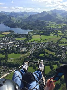 Testing the new flychair in Keswick
