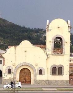 Old Spanish church in retirement mecca, Cuenca, Ecuador