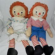 Raggedy Ann And Andy Dolls | 1940s-1950s 19 Georgene Novelties Raggedy Ann and Andy Dolls