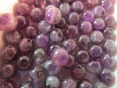 20 Amethyst Beads 6mm AAA Natural Amethyst High Quality by WNBrunk