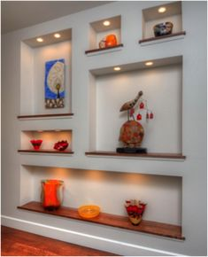 Modern Pop Wall Designs In Hall Shelves In Pop Designs Wall