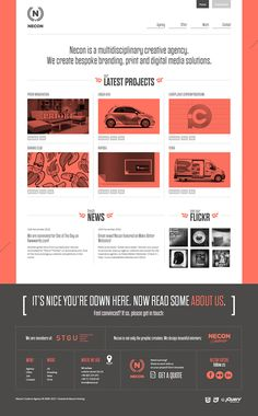 web design, amazing grid Necon Creative Agency - Website by Necon Creative Agency , via Behance home page 15 Fresh. Footer Design, Web Ui Design, Graphic Design, Design Art, Ui Kit, Crea Design, Creative Design, Digital Web, Ipad