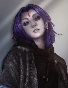 Just a casual portrait of Raven from Teen Titans ~ Edit: Thank you so much for all your support on this work! It means a lot to me! Teen Titans Fanart, Teen Titans Go, Teen Titans Raven, Anime Art Fantasy, Raven Fanart, Raven Beast Boy, Raven Cosplay, Univers Dc, Bbrae