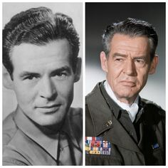 Robert Bushnell Ryan (November 1909 – July was an American actor who often played hardened cops and ruthless villains. Ryan enlisted in the United States Marine Corps and served with the OSS in Yugoslavia. Hollywood Actor, Hollywood Stars, Classic Hollywood, Famous Men, Famous Faces, Famous People, Military Veterans, Military Service, Famous Marines