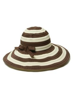Take a look at this Brown & Cream Stripe Yin & Yang Sunhat by Physician Endorsed on #zulily today!