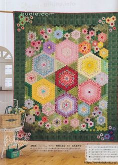 027 (500x700, 400Kb)  hexagon quilt