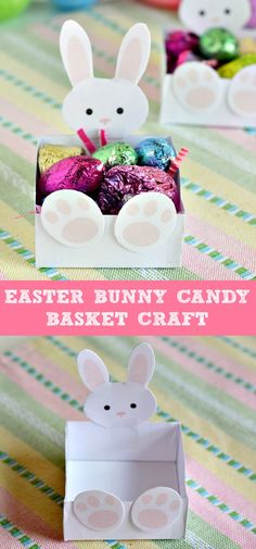 Easter Bunny Candy Basket Craft