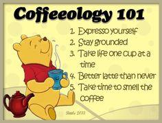 coffeeologoy 101... 5 points  Pooh bear.