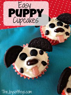 These easy puppy cupcakes are adorable and easy to make. Your kids will love helping to create their own puppy cupcakes.