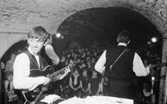 The Beatles performing at the Cavern Club, Liverpool,  in August 1962…