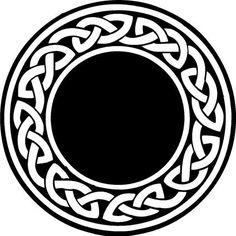 Digital Download Celtic Knot Round Border Frame digi stamp ...