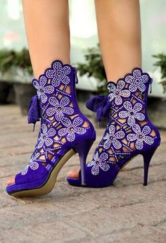 Purple shoes - am too old for these but love them!!