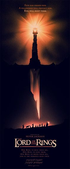 INSIDE THE ROCK POSTER FRAME BLOG: Olly Moss THE LORD OF THE RINGS Movie Posters from Mondo Release Details