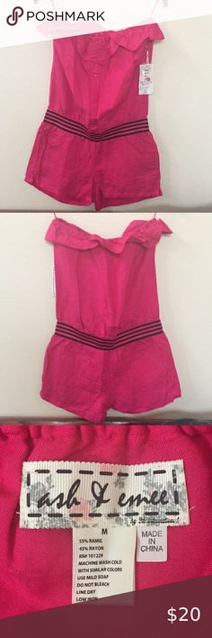 NWT Ash & Emee Romper Cute for summer, size medium Pants Jumpsuits & Rompers Plus Fashion, Fashion Tips, Fashion Design, Fashion Trends, Jumpsuits, Pink Ladies, Pants For Women, Two Piece Skirt Set, Rompers