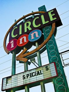 Circle Inn, NW Highway at Harry Hines, Dallas, Texas. At one time, a traffic circle managed cars at this intersection. The hotel was named for the circle. Both the hotel and the traffic circle were demolished in the 1980s to make way for new construction.