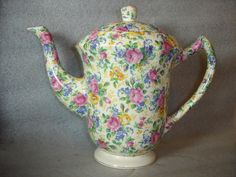 James Kent Rosalynde Chintz 2 Pint Coffee Pot Teapot Vintage 1930s