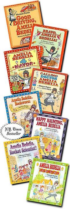 Amelia Bedelia series I loved when we would get the Amelia Bedelia books from the library as a kid!