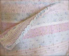 Shabby Chic Quilt. I love this. Have to make something like it.
