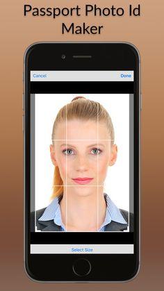 Photo Maker App, Maker Studios, Id Photo, White Backdrop, Passport, Iphone