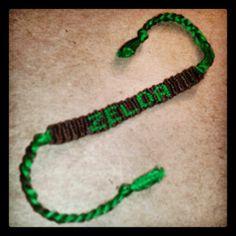 Made a Zelda bracelet because lets just face it, Zelda is awesome. :D ♥