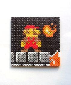 Super Mario Bros Mario Scene Perler Bead Sprite  by nintendo-universe