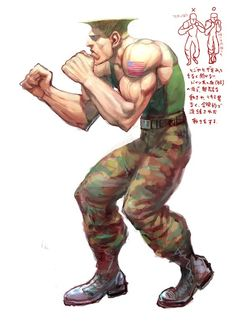 """Street Fighter IV"" (2008) Guile concept a"