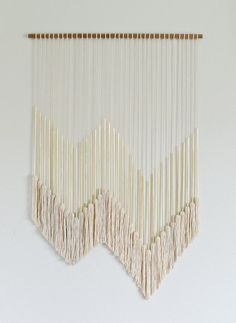DIY Modern Gold Wall Hanging with Tassels