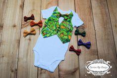 Ninja Turtle Vest & Bow Tie Onesie  TMNJ  by CarrionByDesign, $25.00