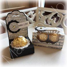 Set voor een of twee Ferrero Rocher bonbons. DIGITAL CUTTING