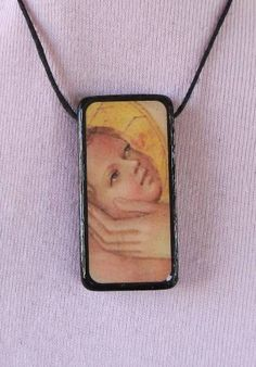 Old Masters Art Domino Pendant Necklace - Jesus Christ. $10.00, via Etsy.