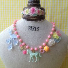 pony & flower necklace - @michu_coquette- #webstagram