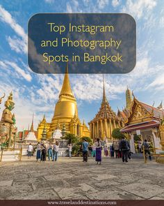 A blog post with Top Instagram and Photography Spots in Bangkok, Thailand. Including the best time to take photographs and map locations. Read this post to learn where many of the best locations are so you return from your trip with lots of awesome photos. #photography #asia #bangkok #thailand #travel #instagram