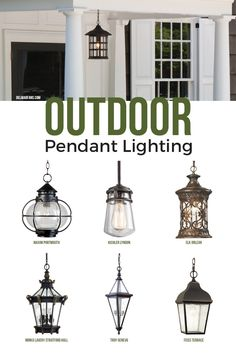 Outdoor pendant lighting, commonly called a hanging porch lantern, will update the look of your home while providing an attractive and inviting environment while guests make their way indoors.