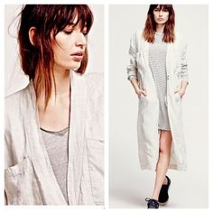 Oversized Boyfriend Sweater FREE PEOPLE Duster NWT Amazing and SOLD OUT EVERYWHERE! Maxi Duster by Free People  Retail $248  Color is Natural Linen  Free People Sweaters