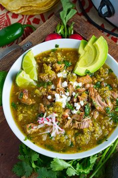 Chili Verde Recipe : A Mexican style pork stew in a tasty salsa verde that is slowly braised until the pork melts into your mouth! Authentic Mexican Recipes, Mexican Food Recipes, Authentic Chili Verde Recipe, Pork Recipes, Slow Cooker Recipes, Cooking Recipes, Healthy Recipes, Cooking Tips, Keto Recipes