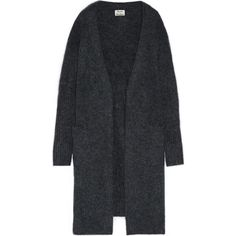 Acne Studios Raya oversized knitted cardigan (€355) ❤ liked on Polyvore featuring tops, cardigans, storm blue, loose fit tops, blue cardigan, cardigan top, blue top and over sized cardigan