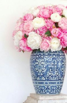 Peonies in a Chinoiserie Vase