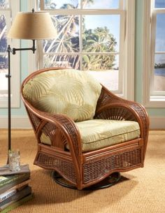 Indoor Palm Cove Natural Rattan and Wicker 19001SGC Swivel Glider Chair by Tickle Imports American Rattan & Wicker http://smile.amazon.com/dp/B00HRJVX80/ref=cm_sw_r_pi_dp_Jlj1tb0DS4K8Q1ZP