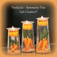 Carrots! Maybe a great Easter idea!   www.partylite.biz/stacycandleparty