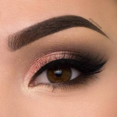 Peach Shimmery Smokey Eye *Click Pic for Makeup Details* (Pic: @denitslava) ♡♥♡♥♡♥