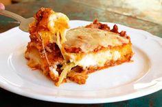 Spaghetti Squash Lasagna with Turkey Meat Sauce