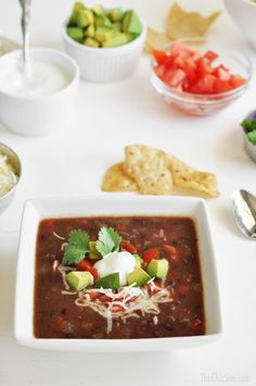 How to Make Slow Cooker Black Bean Soup - This soup is easy to make and has a wonderful fresh flavor