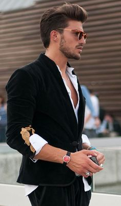 Mens fashion Mariano di vaio - haircut and beard for T Sharp Dressed Man, Well Dressed Men, Look Man, Hommes Sexy, Haircuts For Men, Short Haircuts, Modern Haircuts, Layered Haircuts, Mode Style
