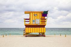 Miami beach hut   by Photographer Léo Caillard