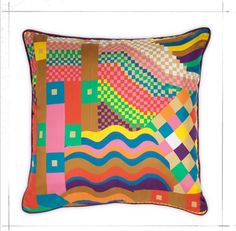 Collier Campbell- Plum Geo Cushion  http://www.colliercampbell.com/Plum%20Geo%20Cushion